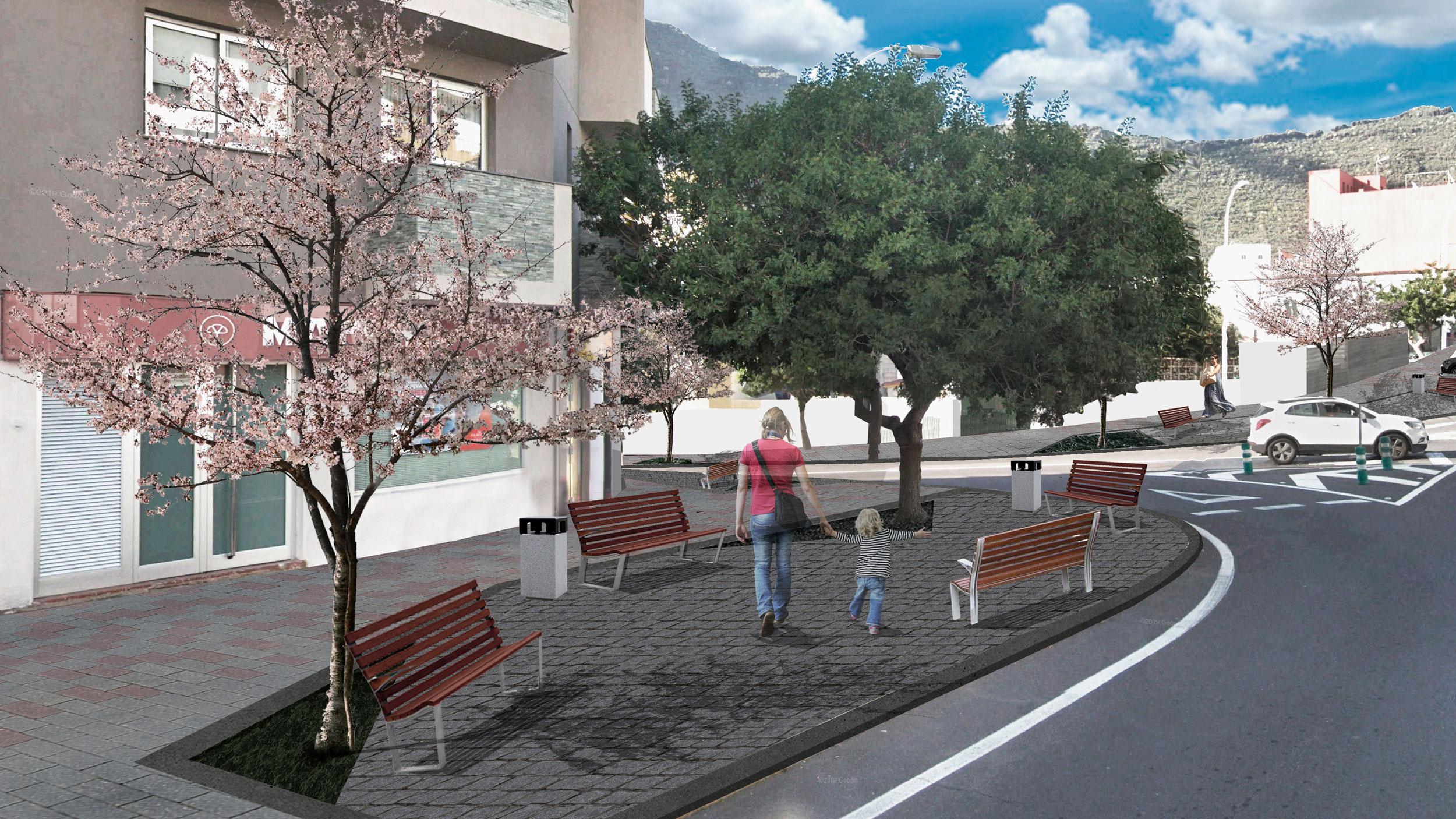 MEJORA Y ACONDICIONAMIENTO DEL ACERADO DE TAMAIMO Proyecto Básico y de Ejecución